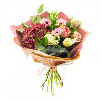 Букет микс с Гортензией, розами, герберами