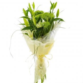 Букет из лилий с зеленью