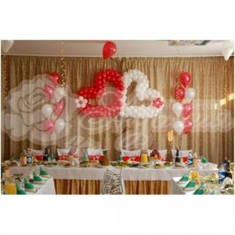 Оформление шарами на свадьбу «Комплект № 4»